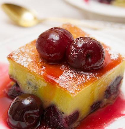 ... cherry plain flour powdered sugar cherry sauce glycosylated cherry